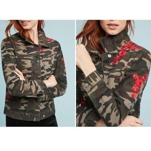 Embroidered Camo Jacket by Pilcro and the Letterpr